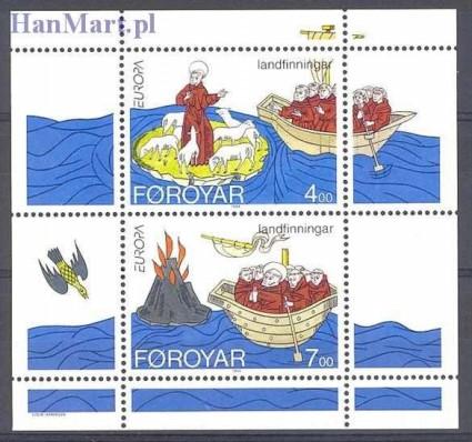 Znaczek Wyspy Owcze 1994 Mi bl 7 Czyste **