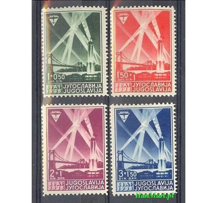 Znaczek Jugosławia 1938 Mi 354-357 Czyste **