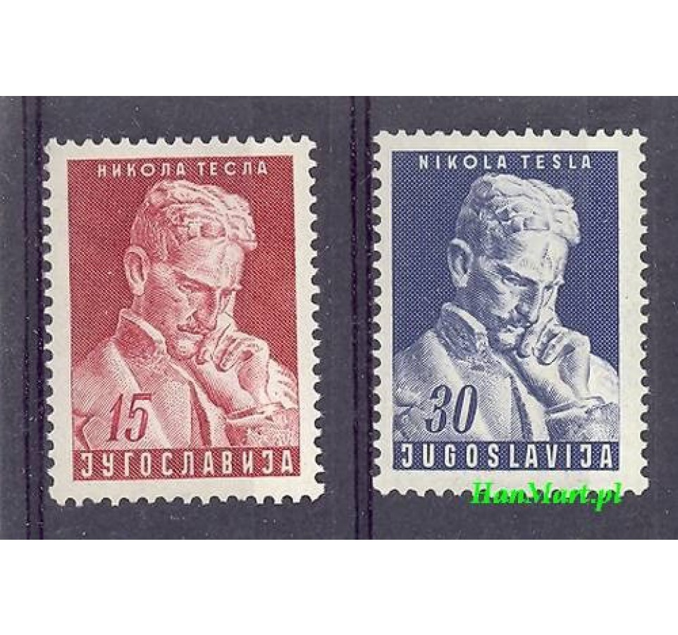 Jugosławia 1953 Mi 712-713 Czyste **