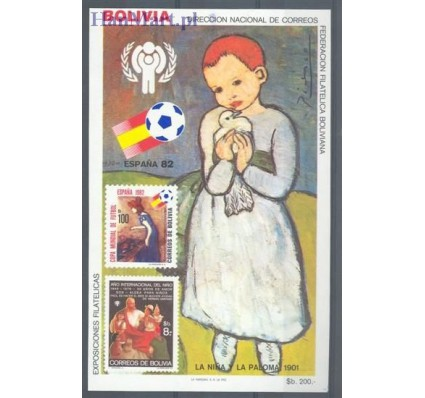 Znaczek Boliwia 1983 Mi bl 132 Czyste **
