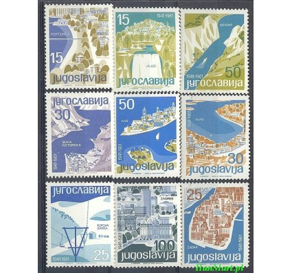 Jugosławia 1962 Mi 994-1002 Czyste **