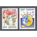 San Marino 2007 Mi 2299-2300 Czyste **