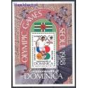 Dominika 1988 Mi bl 127 Czyste **