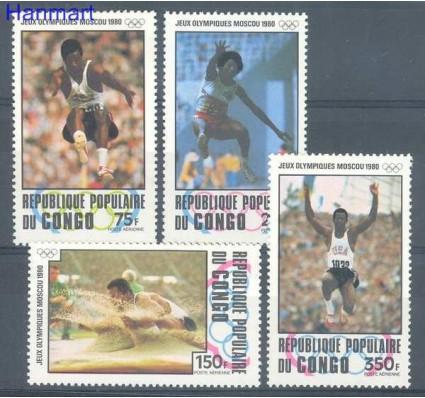 Znaczek Kongo 1980 Mi 726-729 Czyste **