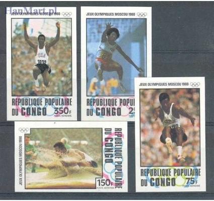 Znaczek Kongo 1980 Mi 726-729B Czyste **