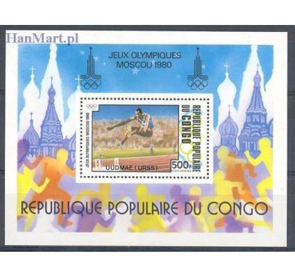 Znaczek Kongo 1980 Mi bl 26 Czyste **