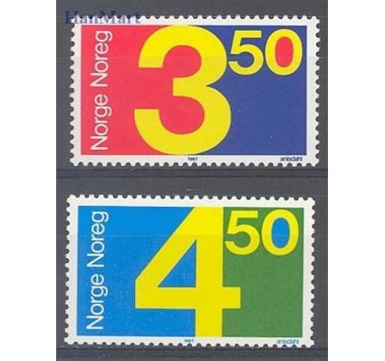 Znaczek Norwegia 1987 Mi 961-962 Czyste **