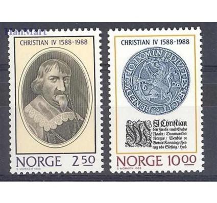 Znaczek Norwegia 1988 Mi 1001-1002 Czyste **