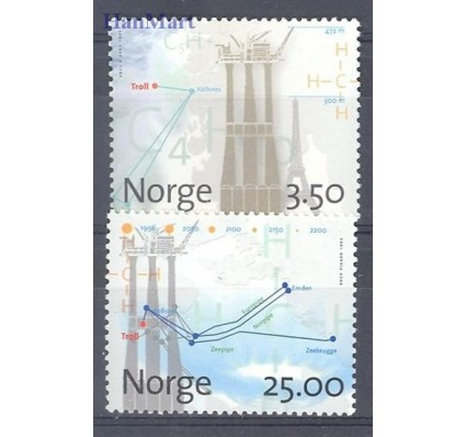 Norwegia 1996 Mi 1211-1212 Czyste **