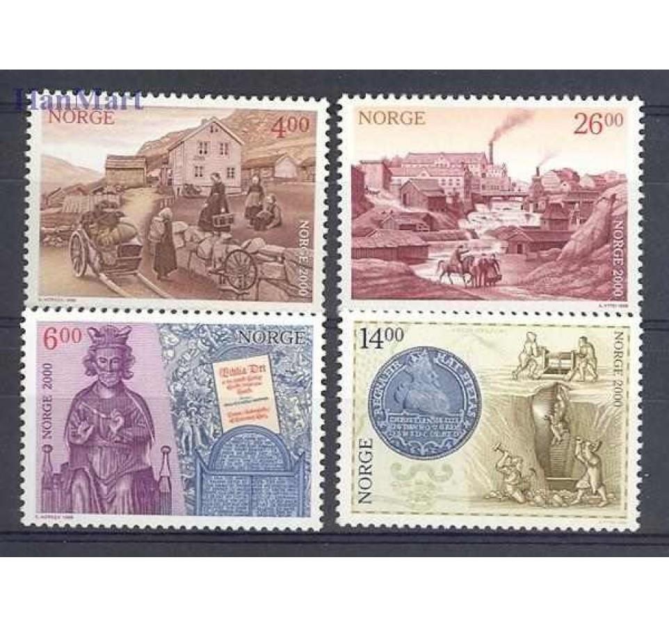 Norwegia 1999 Mi 1313-1316 Czyste **