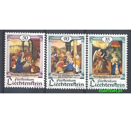 Znaczek Liechtenstein 1990 Mi 1005-1007 Czyste **