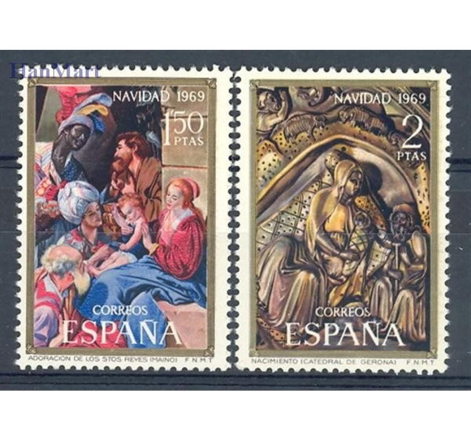 Hiszpania 1969 Mi 1837-1838 Czyste **