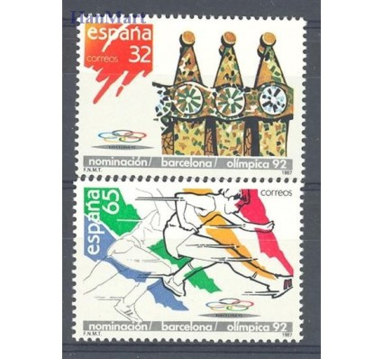 Znaczek Hiszpania 1987 Mi 2789-2790 Czyste **