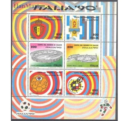 Włochy 1990 Mi bl 7 Czyste **