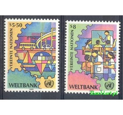 Narody Zjednoczone Wiedeń 1989 Mi 89-90 Czyste **