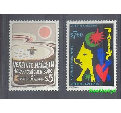 Narody Zjednoczone Wiedeń 1989 Mi 94-95 Czyste **