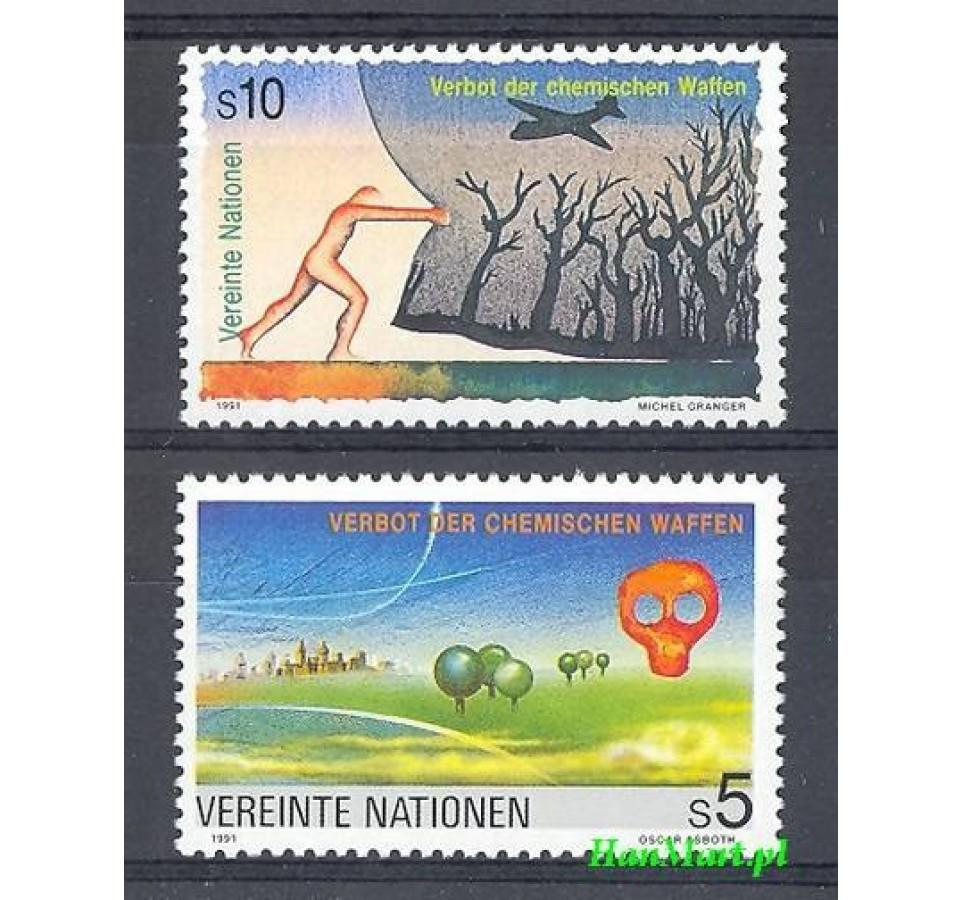 Narody Zjednoczone Wiedeń 1991 Mi 119-120 Czyste **