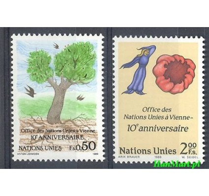 Narody Zjednoczone Genewa 1989 Mi 178-179 Czyste **
