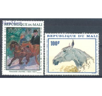 Znaczek Mali 1967 Mi 158-159 Czyste **