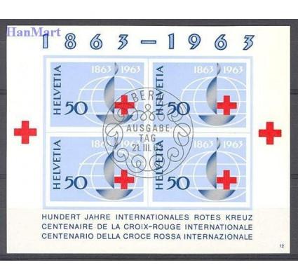 Znaczek Szwajcaria 1963 Mi bl 19 Stemplowane