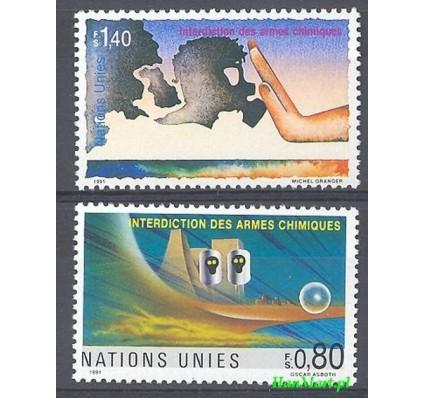 Narody Zjednoczone Genewa 1991 Mi 204-205 Czyste **