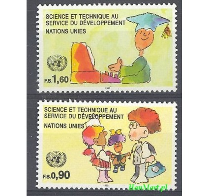 Narody Zjednoczone Genewa 1992 Mi 221-222 Czyste **