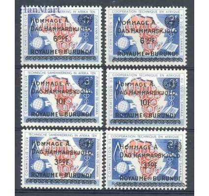 Znaczek Burundi 1962 Mi 34-39 Czyste **