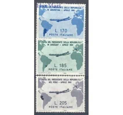 Znaczek Włochy 1961 Mi 1100-1102 Z podlepką *