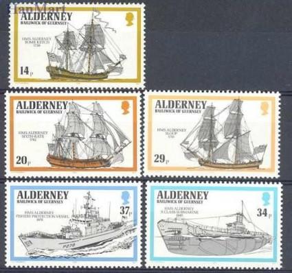 Alderney 1990 Mi 43-47 Czyste **