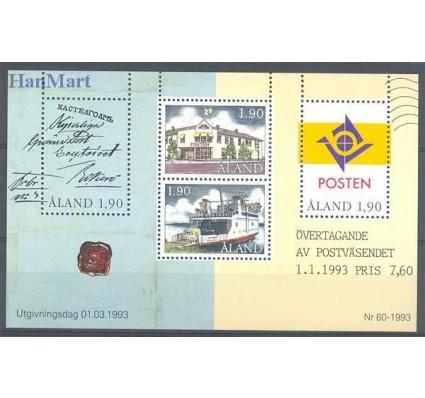 Znaczek Wyspy Alandzkie 1993 Mi bl 2 Czyste **