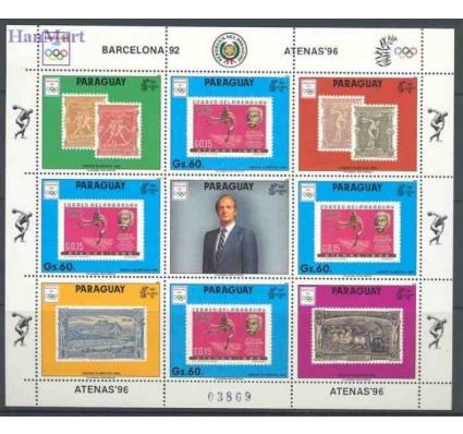 Paragwaj 1990 Mi ark 4449 Czyste **