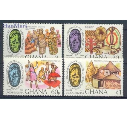 Znaczek Ghana 1977 Mi 678-681 Czyste **