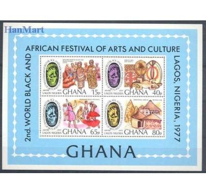 Znaczek Ghana 1977 Mi bl 68 Czyste **