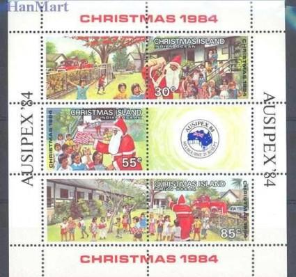 Znaczek Wyspa Bożego Narodzenia 1984 Mi bl 3 Czyste **
