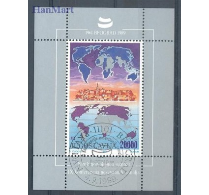 Znaczek Jugosławia 1989 Mi bl 35 Stemplowane