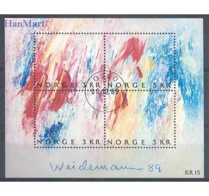 Znaczek Norwegia 1989 Mi bl 11 Stemplowane