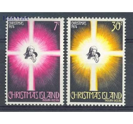 Znaczek Wyspa Bożego Narodzenia 1974 Mi 61-62 Czyste **