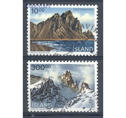 Islandia 1991 Mi 740-741 Stemplowane