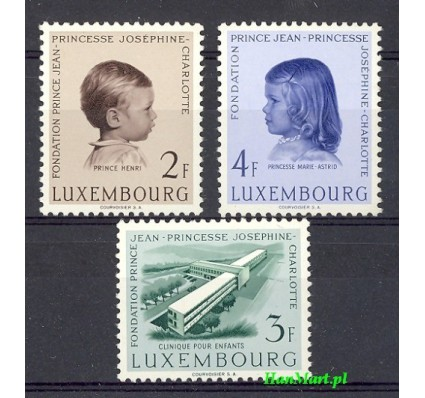 Luksemburg 1957 Mi 569-571 Czyste **