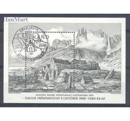Znaczek Islandia 1988 Mi bl 9 Stemplowane