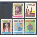 Ekwador 1985 Mi 1975-1979 Czyste **