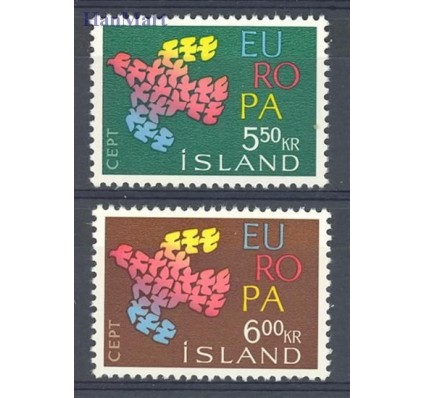 Znaczek Islandia 1961 Mi 354-355 Czyste **