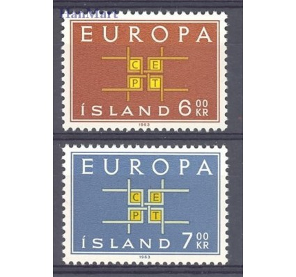 Znaczek Islandia 1963 Mi 373-374 Czyste **