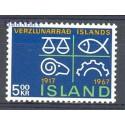 Islandia 1967 Mi 412 Czyste **