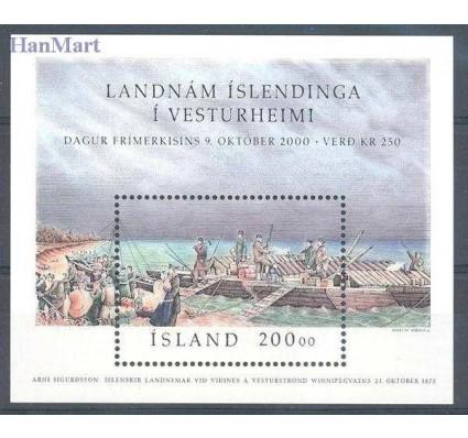 Znaczek Islandia 2000 Mi bl 27 Czyste **