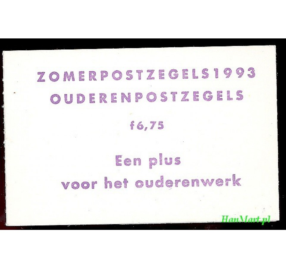 Holandia 1993 Mi mh 49 Czyste **