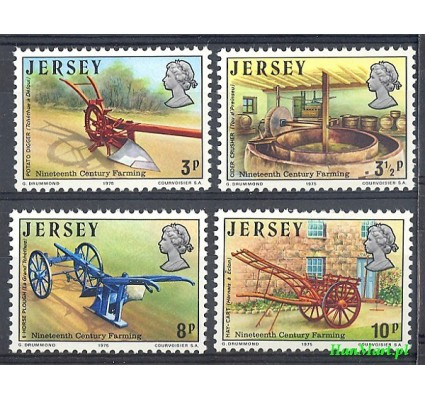 Znaczek Jersey 1975 Mi 114-117 Czyste **