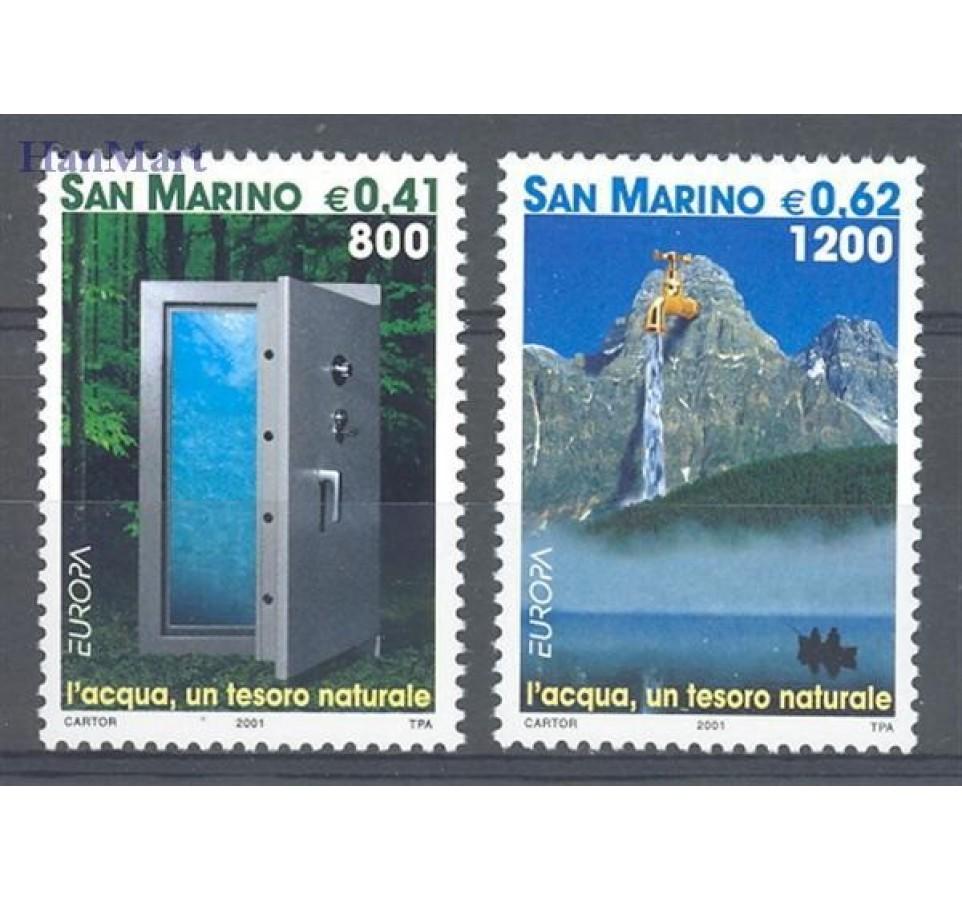 San Marino 2001 Mi 1950-1951 Czyste **