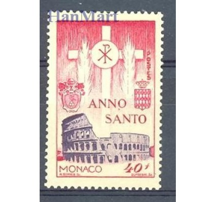 Znaczek Monako 1951 Mi 438 Z podlepką *