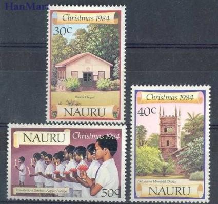 Znaczek Nauru 1984 Mi 299-301 Czyste **